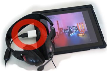 Musikhören mit iPad und USB-Kopfhörer