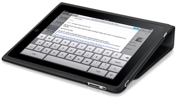 Das iPad Case ist Schutzhülle und Ständer zugleich